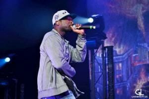 50 cent Singing in Stage
